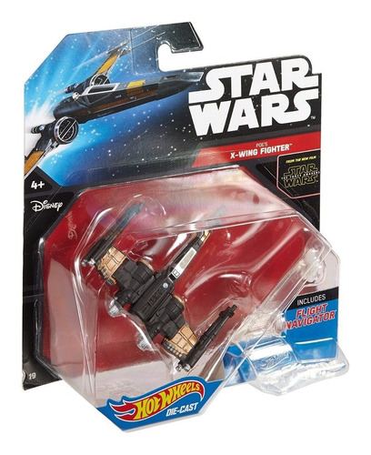 nave star wars poe's x-wing fighter hot wheels