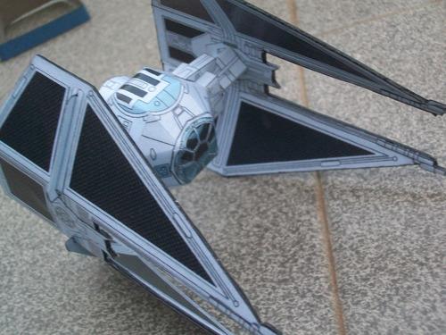 nave tie interceptor star war armada en papel