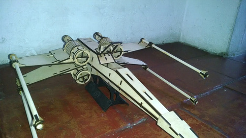 nave x-wing star wars mdf