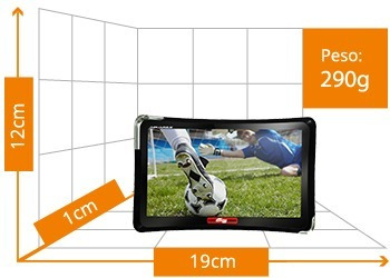 navegador gps automotivo 7 polegadas alerta radar tv digital