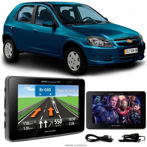 navegador gps automotivo gm celta tela 4.3 touch voz oferta