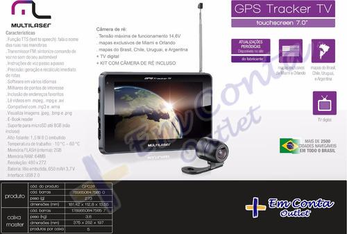 navegador gps multilaser tela 7.0 tv rádio fm e câmera de ré