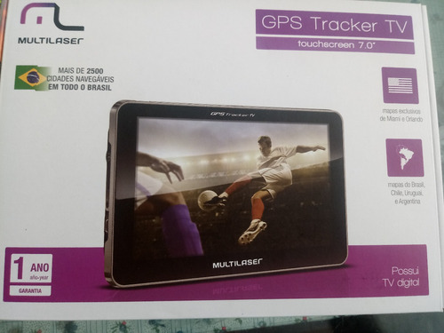 navegador gps multilaser tracker tela 7  tv digital gp038