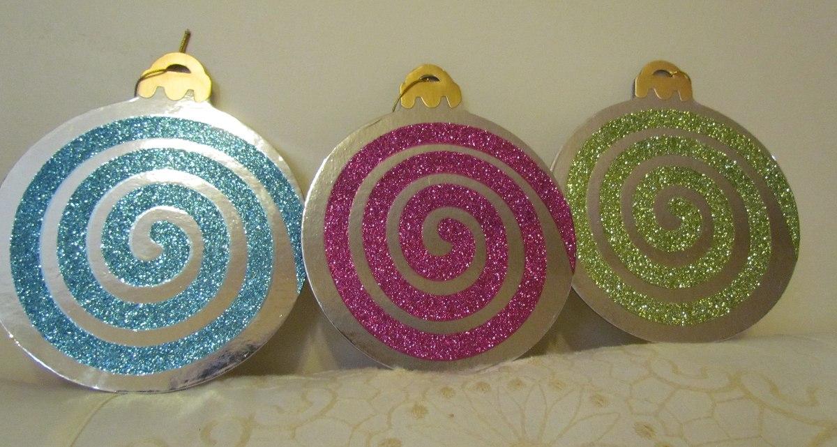Navidad adornos decoracion esferas carton en for Adornos navidenos mercadolibre