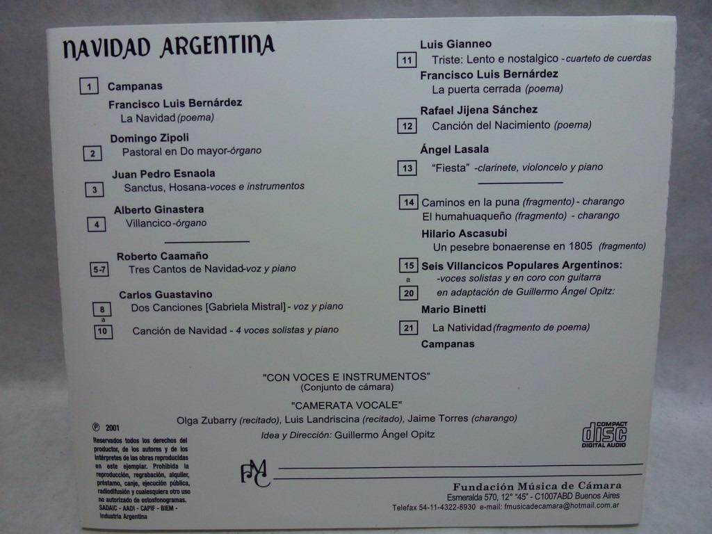 Navidad Argentina Audio Cd En Caballito *