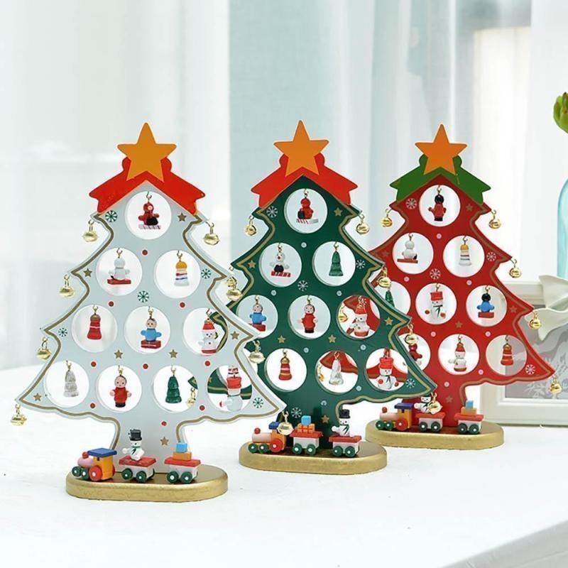Navidad caliente adornos de madera navidad white en mercado libre - Adornos navidenos de madera ...