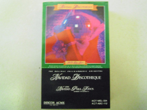 navidad discotheque casette the holiday philharmonic orchest