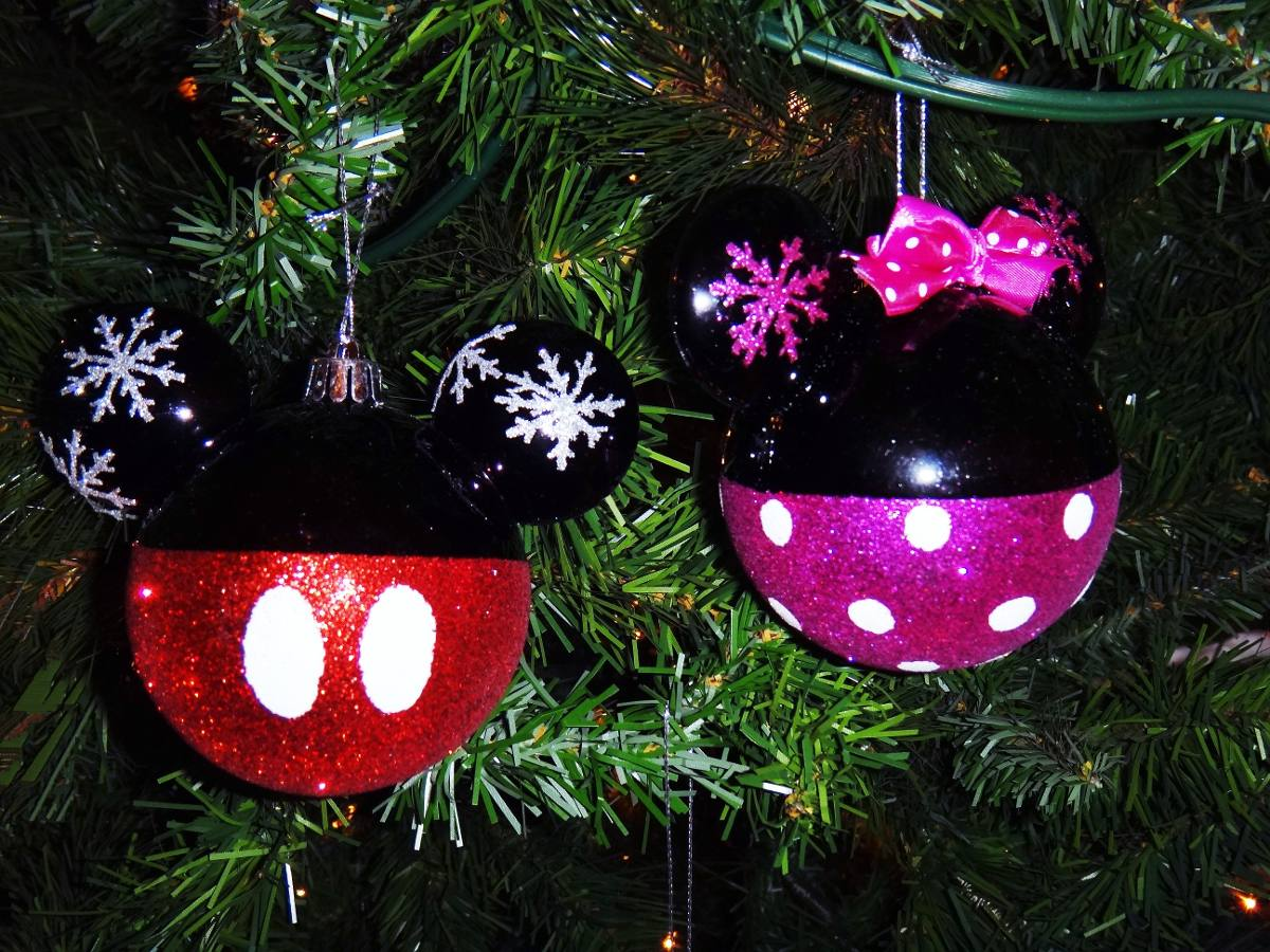 Navidad esferas decoraci n navide a mickey mouse disney - Bolas decoracion ...