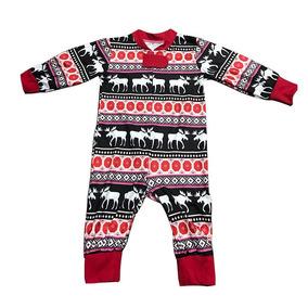 c1aa2d2add Navidad Familia Lindo Bebé Pijama Mamelucos Ciervo Nieve Im