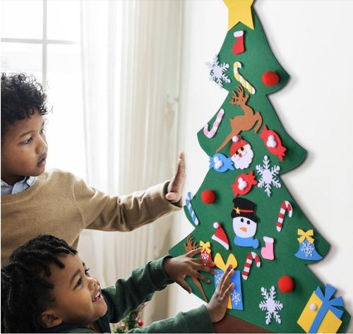 navidad juego diy árbol de navidad de fieltro juguete kids