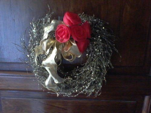 navidad mini-ramo  -ideal centro de mesa - aplique-regalo