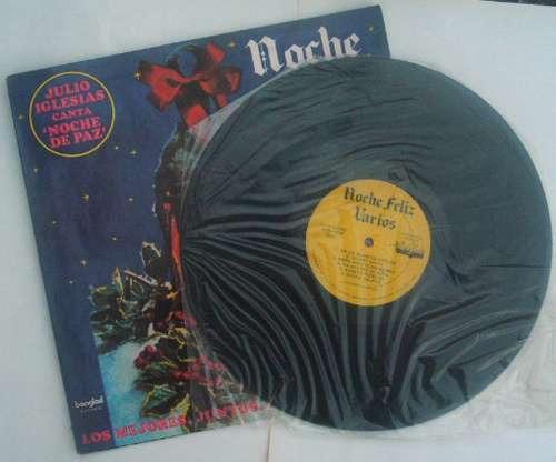 navidad - noche feliz - disco de vinilo