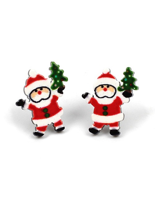 Navidad Papá Alce Muñeco De Nieve Pendientes - $ 253.87 en Mercado Libre