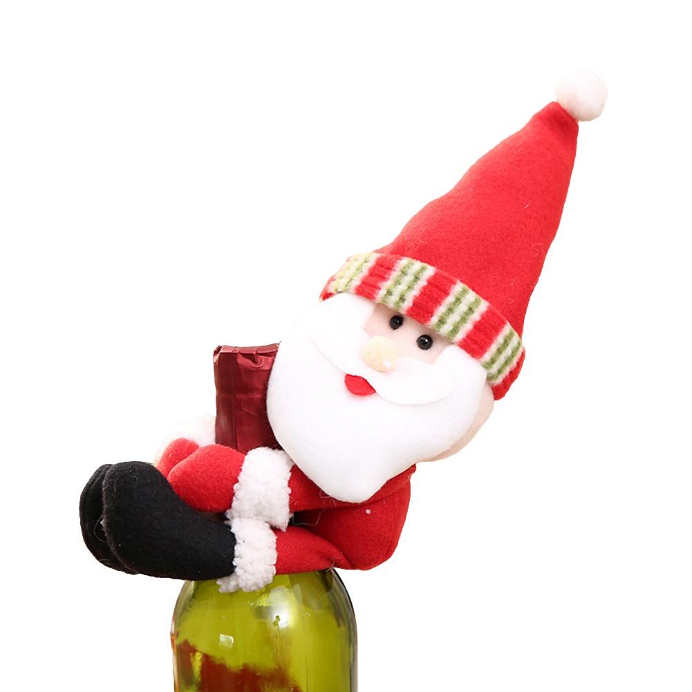 Navidad Papá Cláusula Elfo Muñeco De Nieve Vino Botella C - $ 387.63 ...
