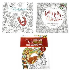 Navidad Para Colorear Libro Conjunto Para Adultos 3 Deluxe