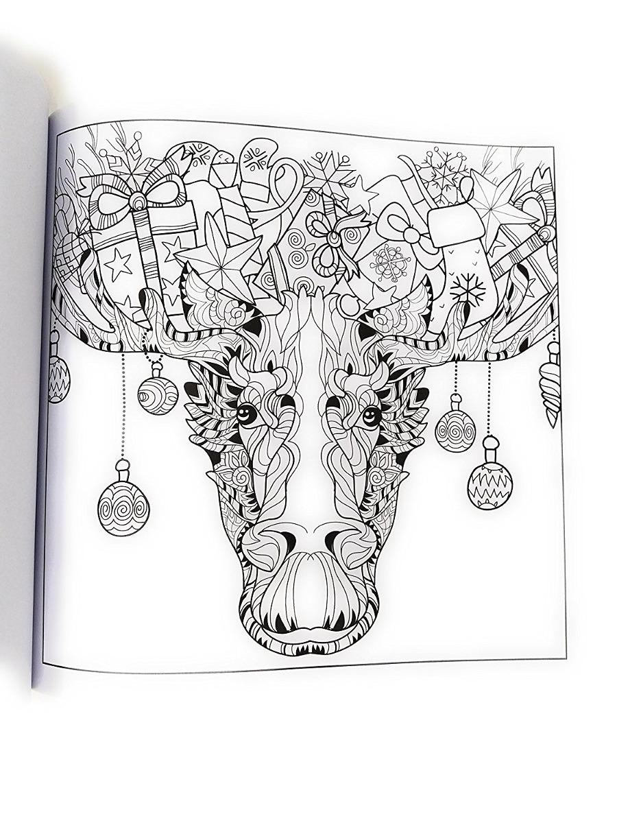 Navidad Para Colorear Libro Conjunto Para Adultos - 3 Deluxe ...
