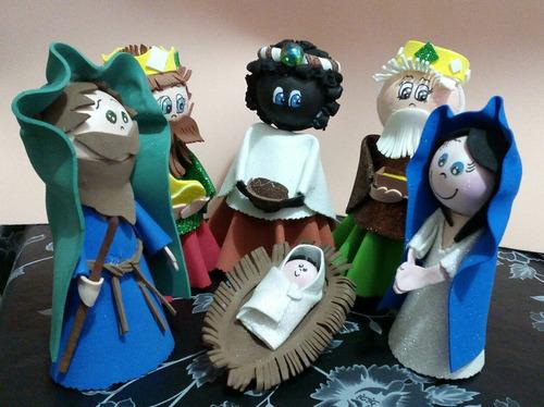 navidad reyes magos los 3 goma eva