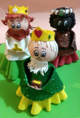 navidad reyes magos pesebres goma eva