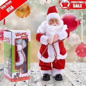 Eléctrica Juguete Figura A Navidad Santa Claus Música Cantar xshtQrdC