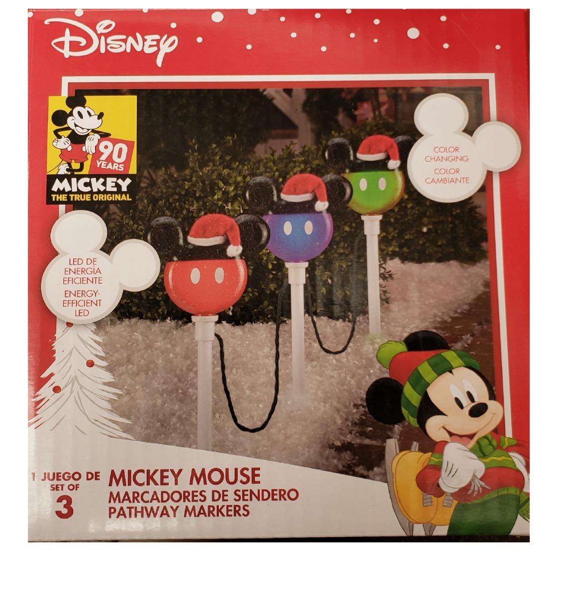 Navidad Serie De 3estacas Led Mickey Diferet Colores Envio ...