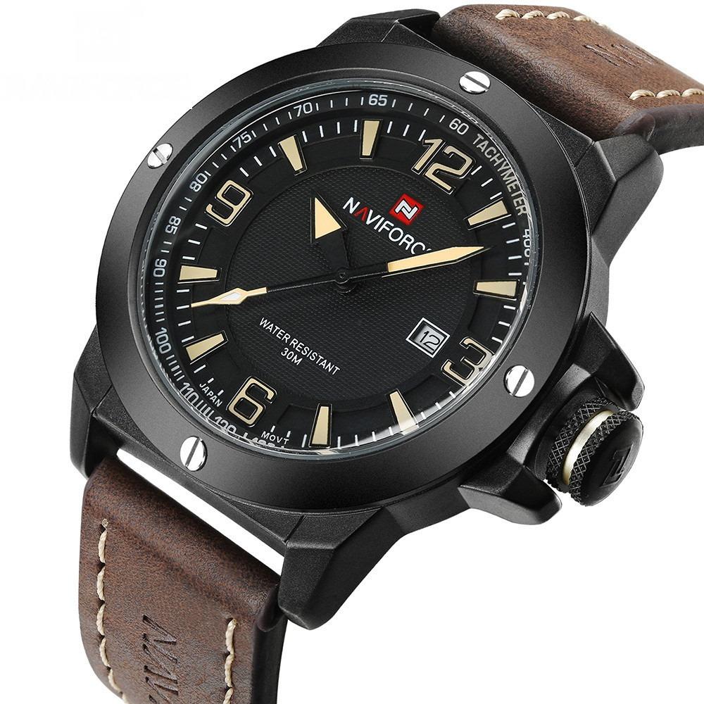 069b93b6497e naviforce nf9077 reloj estilo militar cuero moderno calidad. Cargando zoom.