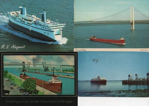 navios - 21 cartões postais