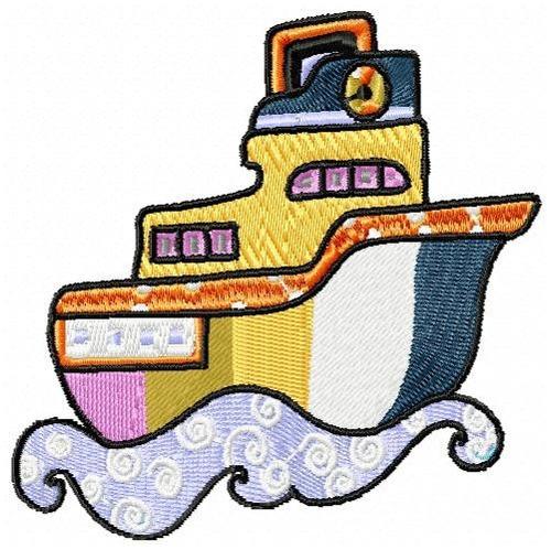 navios patch - coleção de matriz de bordado
