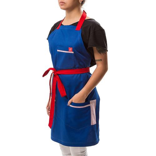 navy - avental professional cheff ® masculino