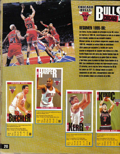 nba basketball 96-97, album de laminas panini lleno