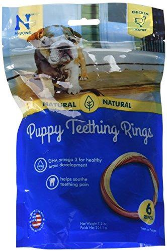 nbone puppy denticion anillo sabor de pollo