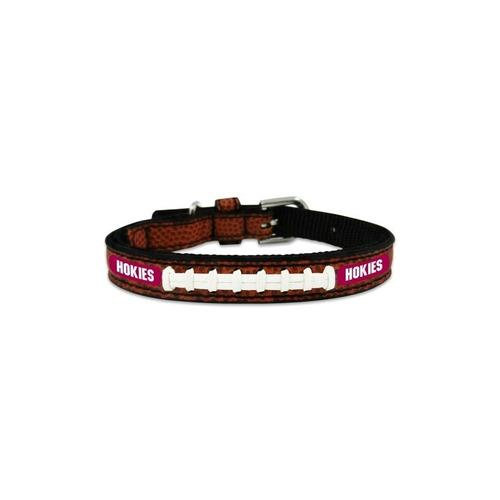 ncaa virginia tech hokies classic leather football collar, j