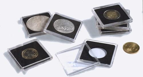 ndv - capsulas para monedas leuchtturm quadrum x 10