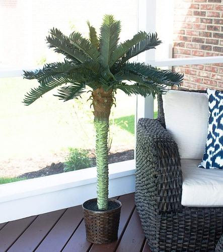 nearly naturals  planta artificial fake palm tree tropical