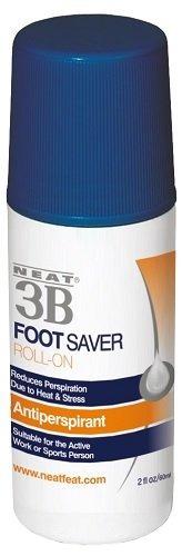 neat feat 3b foot saver roll-on antitranspirante para pies,