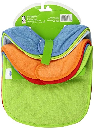 neat solutions 8 pack multicolor solid knit terry feeder bib