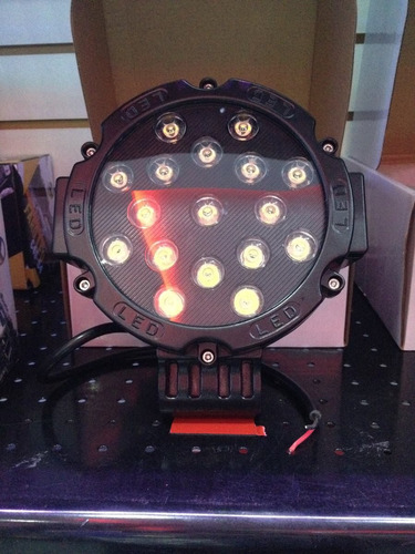 neblinero gigante de 51 watts faro led  potente 4x4 tuning
