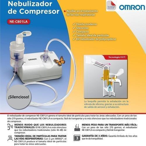 nebulizador de compresor omron ne-c801 silencioso
