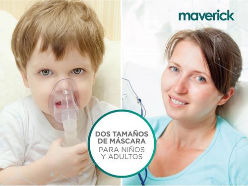 nebulizador ultrasónico maverick máscara niño   adulto