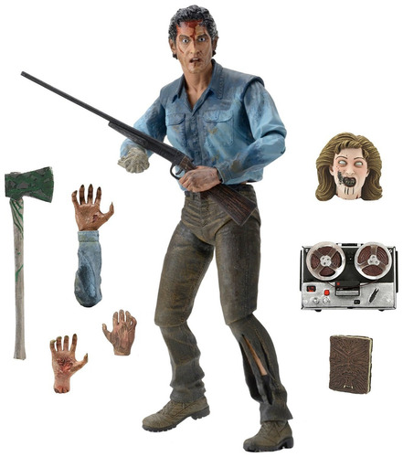 neca evil dead 2 - scale action figure, ultimate ash 18 cm