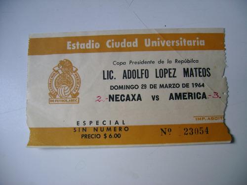 necaxa vs america 29 marzo 1964 boleto futbol soccer