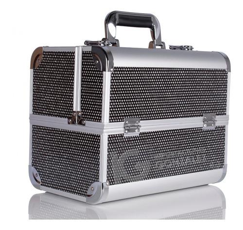 neceser maletín cosmetiquera profesional belleza refuerzos de aluminio con envío gratuito