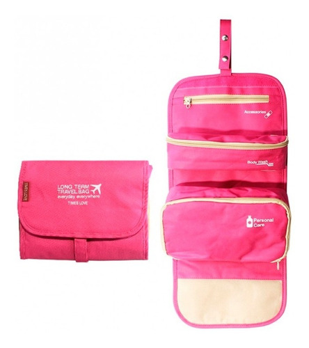 neceser organizador viaje bolso porta cosmeticos colgante 3 en 1
