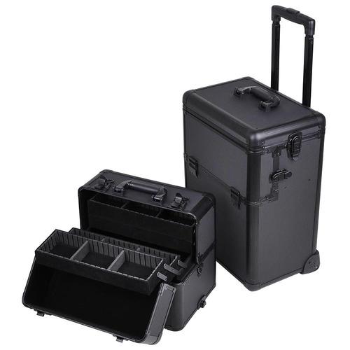 neceser profesional viaje cosmetiquera maleta cosmeticos 2n1