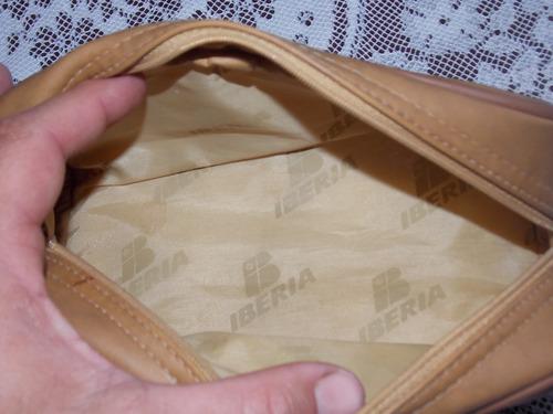 necessaire bolsa bordo cia aerea iberia