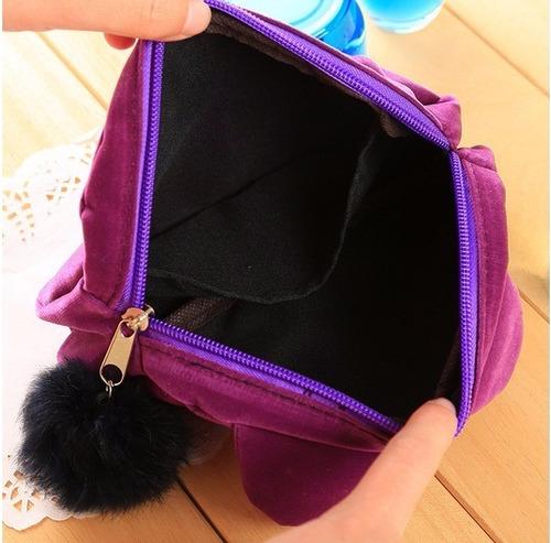 necessaire bolsa feminina coelho coelhinho fofo pom pom gato