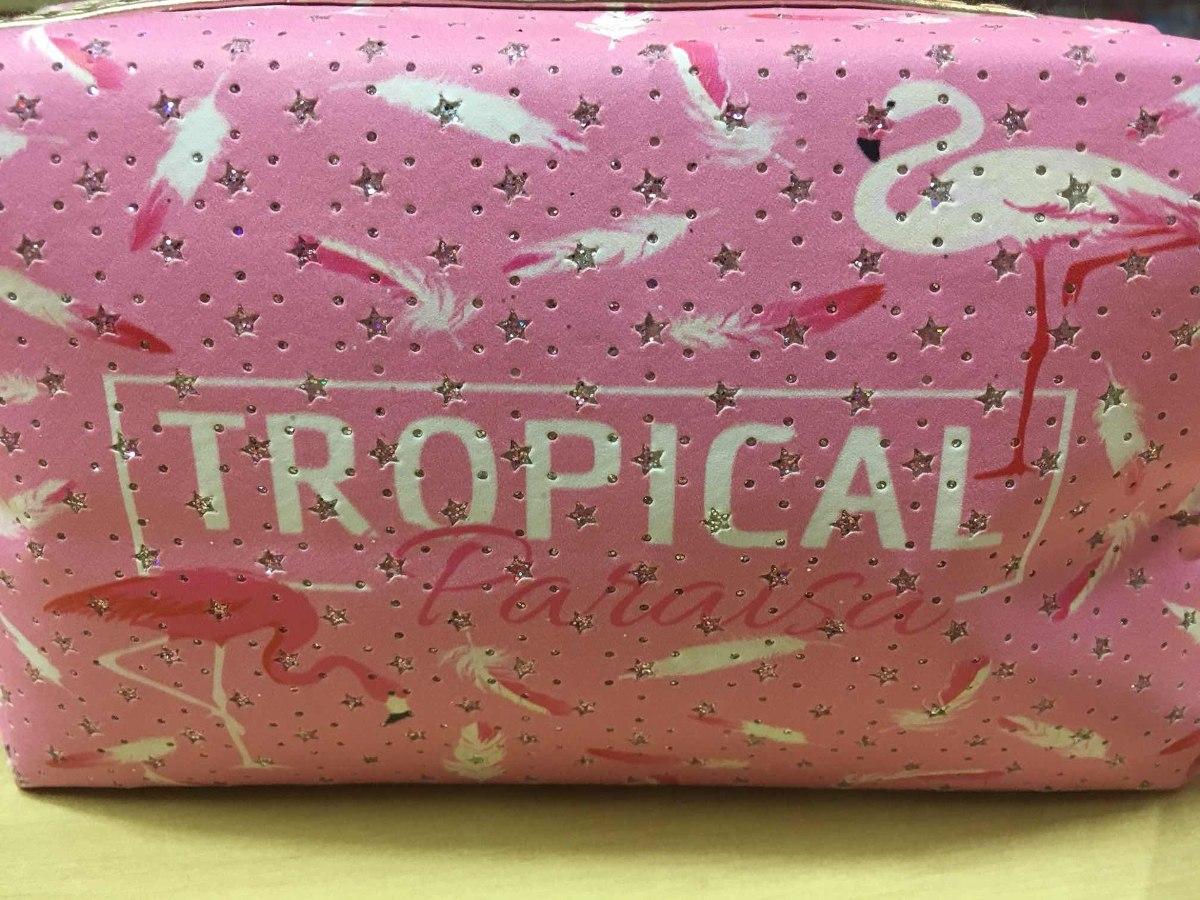 cc3b26a29 Necessaire Flamingo Tropical Estampa Diversas - R$ 24,00 em Mercado ...