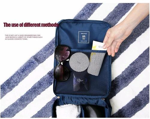necessaire organizadora sapato e acessórios mala de viagem