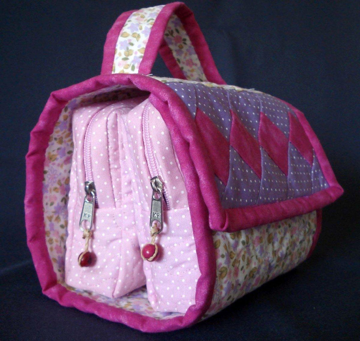 Bolsa Em Tecido Patchwork Feminina Com Alça Para Os Ombros : Necessaire patchwork r em mercado livre