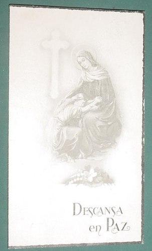 Necrologica Religion Tarjeta Descansa En Paz Virgen 1951 4966