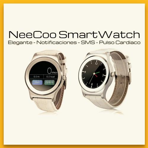 neecoo v3 smartwatch elegante pulso cardiaco llamadas sms